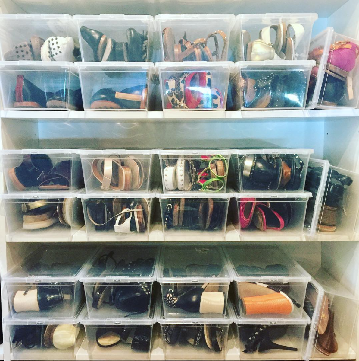 Guardar Zapatos En Cajas Transparentes Si Brenda Haines ~ Cajas Transparentes Para Zapatos